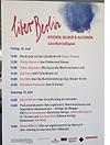 Plakat zur Podiumsdiskussion zur Zukunft des Lesens in Gießen